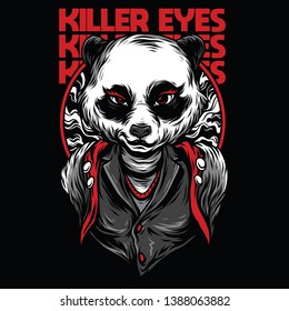 Killer Eyes Red Mafia Illustration