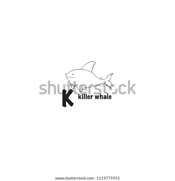 Killer Whale Coloring Page Isolated On Stock Vector Royalty