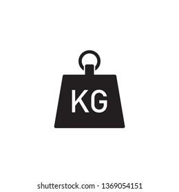 Kilogram vector icon flat style isolated on white background