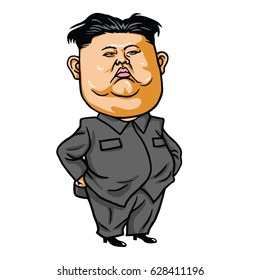 Kim Jong-un Cartoon Vector Illustration. April 26, 2017
