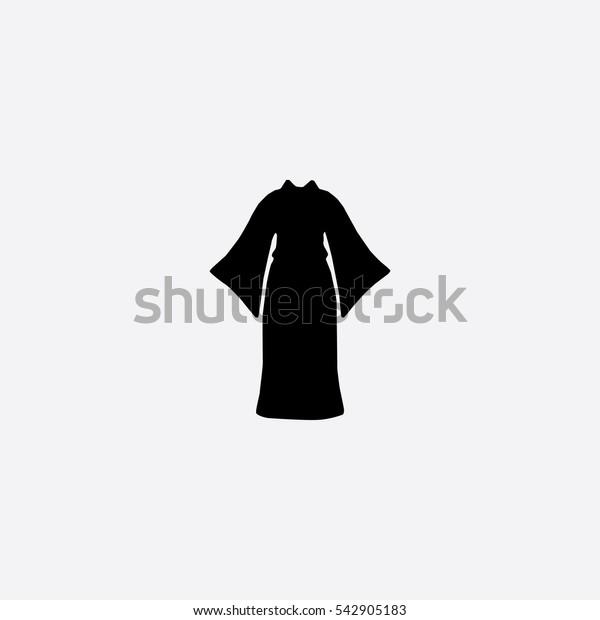 Kimono icon silhouette vector illustration