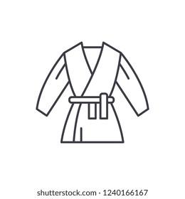 Kimono line icon concept. Kimono vector linear illustration, symbol, sign