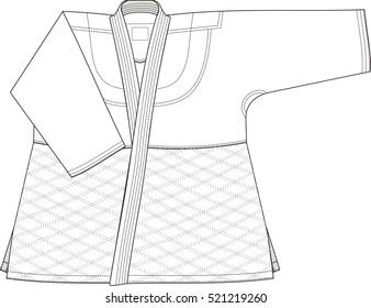 Kimono for martial arts