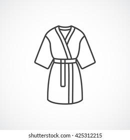 Kimono silk robe icon. Vector line icon.