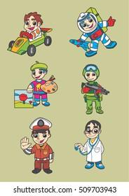 Kind of Profession. Children Illustration