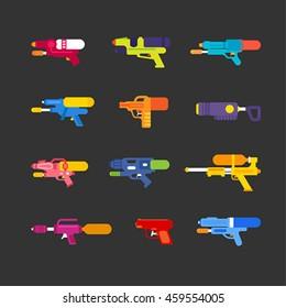 Kind of water gun vector illustration