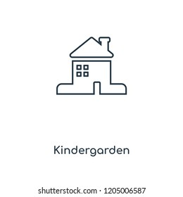 Kindergarden concept line icon. Linear Kindergarden concept outline symbol design. This simple element illustration can be used for web and mobile UI/UX.
