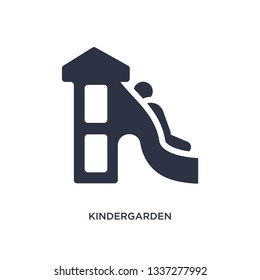 kindergarden icon. Simple element illustration from kid and baby concept. kindergarden editable symbol design on white background. Can be use for web and mobile.