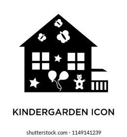 Kindergarden icon vector isolated on white background for your web and mobile app design, Kindergarden logo concept