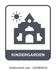 kindergarden icon vector on white background, kindergarden trendy filled icons from Kids and baby collection, kindergarden simple element illustration