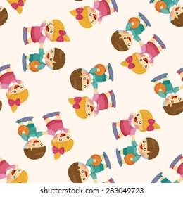 Kindergarten children ,seamless pattern