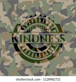 Kindness camouflaged emblem