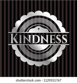 Kindness silvery shiny emblem