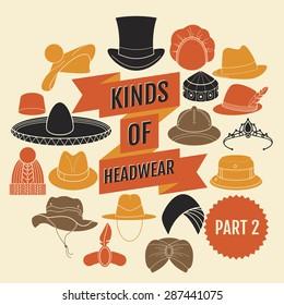 Kinds of headwear. Part 2.