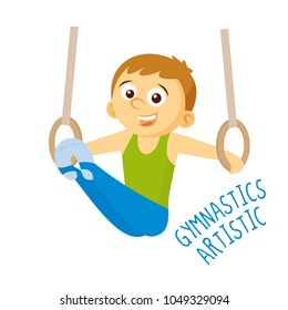 Kinds of sports. Athlete. Gymnastics artistic