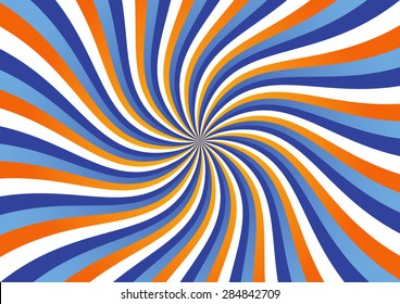 Kinetic Background Made of Wavy Stripes Vector Illustration