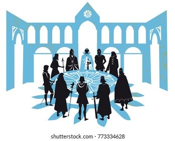 King Arthur and the Knights of round table
