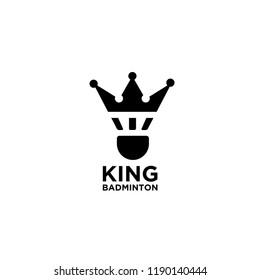 king badminton logo icon designs vector