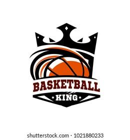 King Basketball Ball Logo