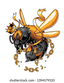 The king bee free from the chain