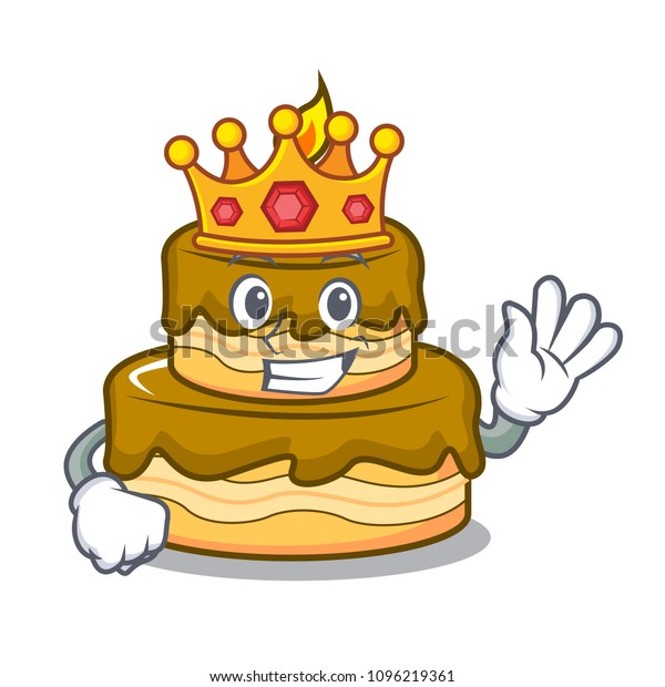 Excellent King Birthday Cake Mascot Cartoon Stock Vector Royalty Free Birthday Cards Printable Trancafe Filternl