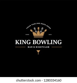 King bowling bar and night club logo