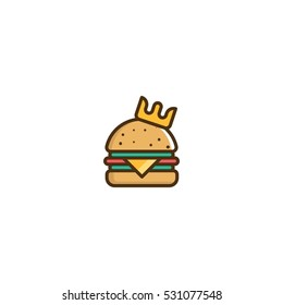 King Burger Vector Logo Design Element