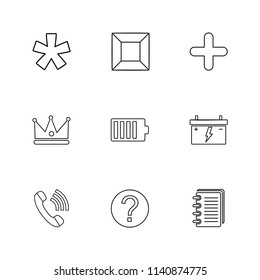 king  call  diary  battery  shapes  electronic  time  ecology  icon vector design  flat  collection style creative  icons  traingle  square  hexagon  pentagon  battery  electricity