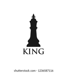 King chess piece graphic design template vector illustration