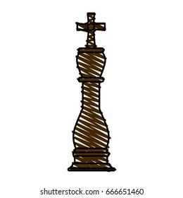 king chess piece vector illustration