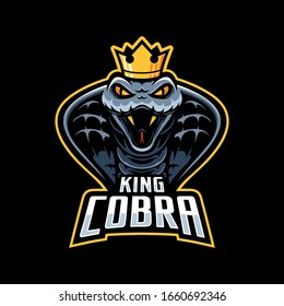 King cobra snake Mascot logo template