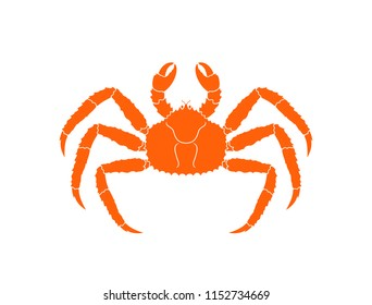 King crab. Isolated crab on white background
