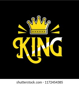 King with crown illustration