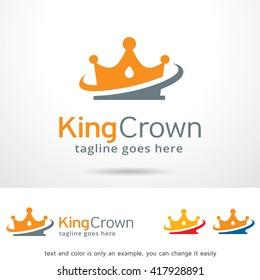King Crown Logo Template Design Vector