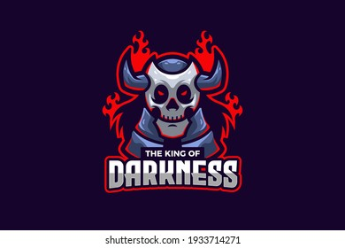 The King of Darkness E-sport Logo Template