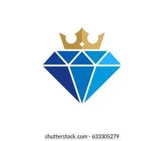 King Diamond Icon Logo Design Element