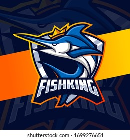 king fish mascot esport logo design