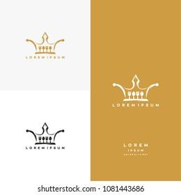 King Food Logo Template Design Vector, Emblem, Design Concept, Creative Symbol, Icon