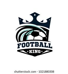 King Football Ball Logo