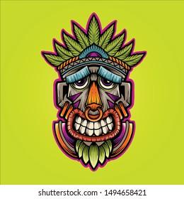 KING HAPPY MASK VECTOR ART