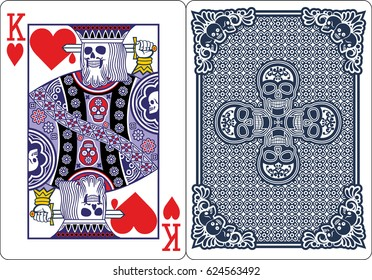 king of heart with skull