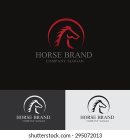 King Horse Vector Logo Template