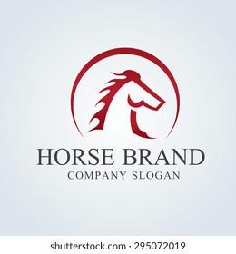 King Horse Vector Logo Template