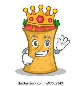 King kebab wrap character cartoon