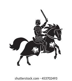 king knights on horseback