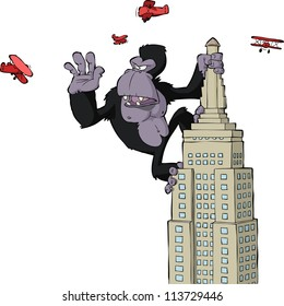King Kong on a skyscraper vector illustration