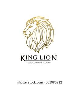 King lion,lion logo,tattoo,vector logo template