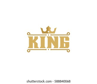 King Logo Design Element
