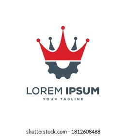 King Manufacturing - Best Manufacturing Company Logo Designs Vector.