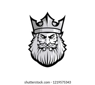king mascot logo design